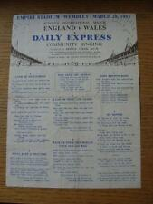 28/03/1953 Inghilterra Scuole V Galles Scuole [a Wembley] DAILY EXPRESS Community