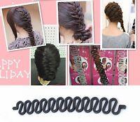 5 Black Braids Holder/Magic Hair Styling Bun Curler Tool Maker Twist Braider DIY