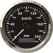 85mm KUS black normal impulse speedometer 0-200km/h CMOB-BS-200L (SV-KY08015)
