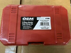 OEM TOOLS 27280 5 PC Master Universal Single Twin Quad Cam Clamp Kit Camshaft