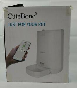 CuteBone Automatic Cat and Dog Feeder Wi-Fi Enabled Smart Food Dispenser Openbox