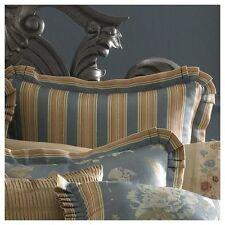 J. Queen New York Savannah Euro Pillow Sham Striped Ruffled Multi Color $85