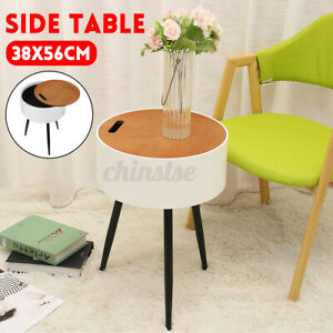 3Legs Round Side Table Composite Board Iron Sofa multifunctional storage bedroom