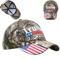 Donald Trump 2020 MAGA Camo Embroidered Hat Keep Make America Great Again Cap FW