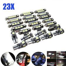 23x Car LED Inside Light Kit Dome Trunk Mirror License Plate Lamp White Bulbs