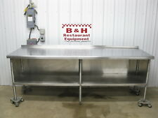 """8' x 2' 6"""" Stainless Steel Heavy Duty Kitchen Cabinet Work Prep Table 96"""" x 30"""""""