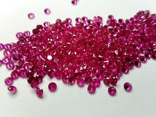 2 mm Round Cut LAB creata Ruby LOOSE Gemstone lotto di 20 Pietre