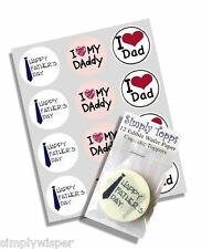 12 Happy Fathers Day Cupcake Decoration Cake Toppers Edible Precut Daddy Dad