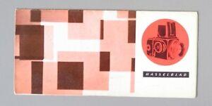 Hasselblad Product Brochure 1958 Original
