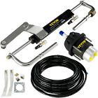 Hydraulic Outboard Steering System Kit 90hp Marine Cylinder Helm Tubing Boat