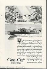 1930 CHRIS-CRAFT advertisement, 48-ft Luxury Cruiser wooden motorboat