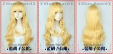 New TouHou Project Kirisame Marisa Anime Cosplay Costume Wig +Free Track No