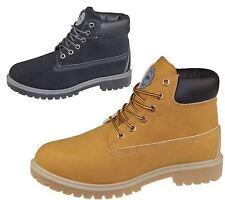 Para Hombre lazada Botas Invierno combatir senderismo trabajo Alta Top Tobillo Zapatos Talla