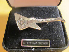 Solid .925 Sterling Silver Pin Brooche Hard Rock Cafe Guitar Niagara Falls Pure