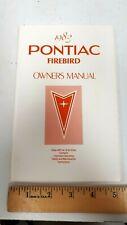 1983 PONTIAC Firebird - Original Owner's Manual - NOS Condition