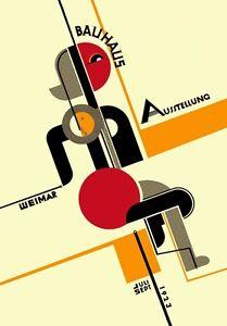 1923 GERMAN WEIMAR BAUHAUS ART EXHIBITION AUSSTELLUNG V.5 A3 POSTER RE PRINT