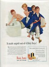 Orig Bon Ami Magazine Ad 4 Dirty Boys from The American Home Nov 1939, 2-sided