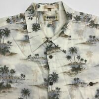 Campia Moda Button Up Shirt Men's 2XL XXL Short Sleeve Tropical Print 100% Rayon
