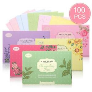 Oil Control Tissue 100 Sheets Blotting Paper Absorbing Face Wipe Scented