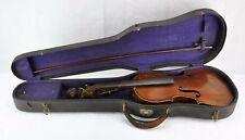 Antique 1884 German Violin with label, Full size 4/4 Length . V3.(Bi#Mk/171103)