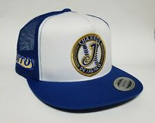 CHARROS  DE JALISCO HAT MESH TRUCKER WHITE  ROYAL   SNAP BACK FLAT BUILD   NEW