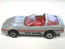 Vintage MATCHBOX 1983 Corvette Silver Metallic Gray Diecast Macau 1:56