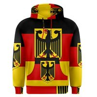 Germany German Flag Sublimation Men's Pullover Hoodie Size S-3XL Free Shipping