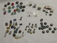 Lot of Crafting Jewelry Making Beads - Glass, Metal, Wood, Lampwork