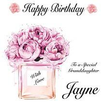 PERSONALISED Birthday Card-Perfume & Flowers-Daughter,Sister,Niece,Granddaughter