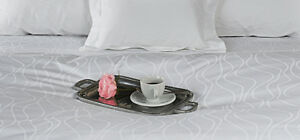 Sale 600-TC 100% Egyptian Cotton White Wave Striped Sheet Set/Duvet/Flat/Fitted