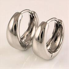 8692f66eaec4 9ct Blanco relleno de oro pequeño criollo Huggie Aro Pendientes Regalo para  Mujer UK 326