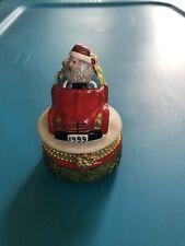 Rare Christopher Radko 1999 Porcelain Santa I love Christmas Trinket Box