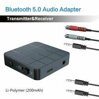 Bluetooth 5.0 Wireless Audio Transmitter Receiver Adapter 2 AUX 1 Music Z5N4