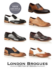 New London Brogues Albert Mens Oxford Brogue Shoes ALL SIZES AND COLOURS