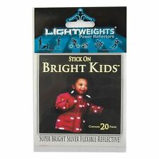 Lightweights Lw4C Clothing Reflectors & Bike Tape/Sil 20 Pieces