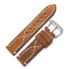 24mm Replacement Watch Band Genuine Leather Thick Strap For Radiomir Luminor
