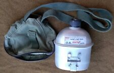 Unusual variation mint iraqi canteen with pouch and cup minty condition zipper