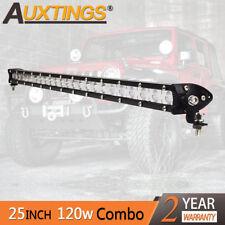 Super Mini 25'' 120W Led Light Bar Combo Single Row Work Driving Lights 4x4 SUV