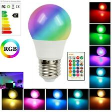 RGBW LED Bulb Light 16 Color Changing Lamp Dimmable E26 E27 Base IR Remote Decor