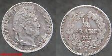 France !  1/4 de  franc Louis Philippe 1832 sur 1 A  en SUP-