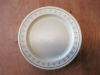 "Anchor Hocking USA Ironstone CHANTILLY Dinner Plates 10 1/2"" 1 ea 1 available"