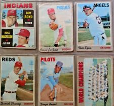 """TOPPS Baseball 1970 Original Cards."""" Mets World Champions""""   9 cards total."""