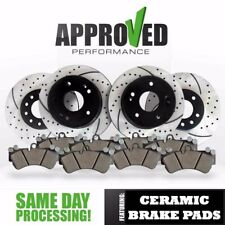 Front & Rear Drilled and Slotted Brake Rotors & Ceramic Pads 2007 Explorer 4WD