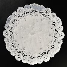 """25 - 10"""" White FRENCH LACE Paper Doilies 