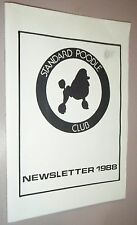The Standard Poodle Club Newletter 1988 Mr. P. Holbourn Editor Vintage Articles
