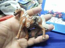 Vintage Miniature Cast Metal Toy Horse Figurine Chain Reins Made In Japan