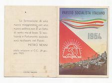 W292-PARTITO SOCIALISTA ITALIANO-TESSERA 1954