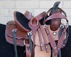 Used Trail Horse Western Saddle Ranch Roping Tack Kids Tooled Leather 12 13 14
