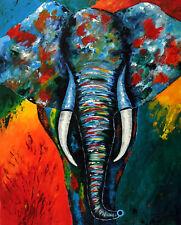 Acrylbild#Elefant#Original#bunt#80x100cm#Afrika#abstrakt#modern#Leinwand#