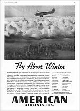 1936 American Airlines city aerial view sleepers vintage photo print ad ads18